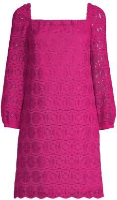 Trina Turk Lace Squareneck Shift Dress