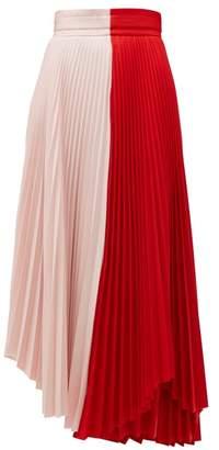 A.W.A.K.E. Mode Double Trouble Doric Pleated Crepe Midi Skirt - Womens - Multi