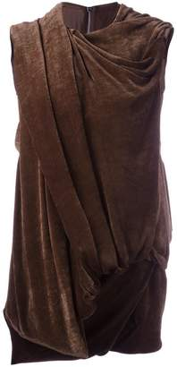 Rick Owens draped effect sleeveless top