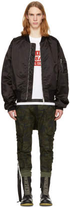 Unravel Black Street Chaos Bomber Jacket