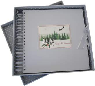 White Cotton Cards Baby's First Christmas Christmas Trees and Penguin Range Card and Memory Book