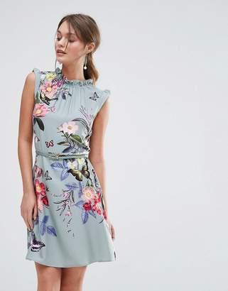 Oasis Floral Placement Print Skater Dress $72 thestylecure.com