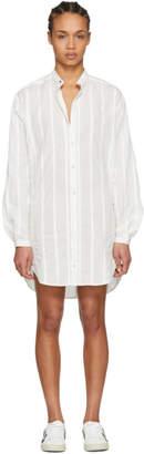 Saint Laurent White Oversized Shirt Dress