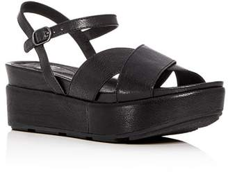 Eileen Fisher Women's Juno Leather Crisscross Platform Sandals