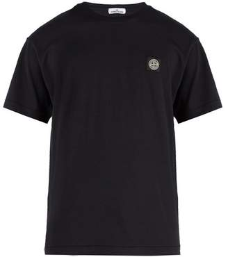 Stone Island Logo Patch Cotton Jersey T Shirt - Mens - Navy