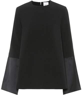 Edit Crêpe kimono-sleeve top