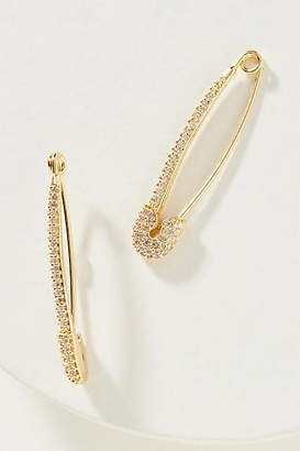 Anthropologie Safety Pin Threader Earrings