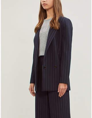 LINGUA FRANCA No Shrinking Violet slogan fine-knit cashmere jumper