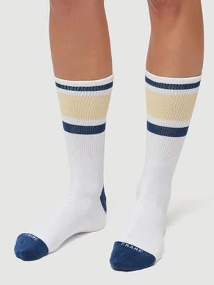 Frame Denim Varsity Sock Golden Haze Multi