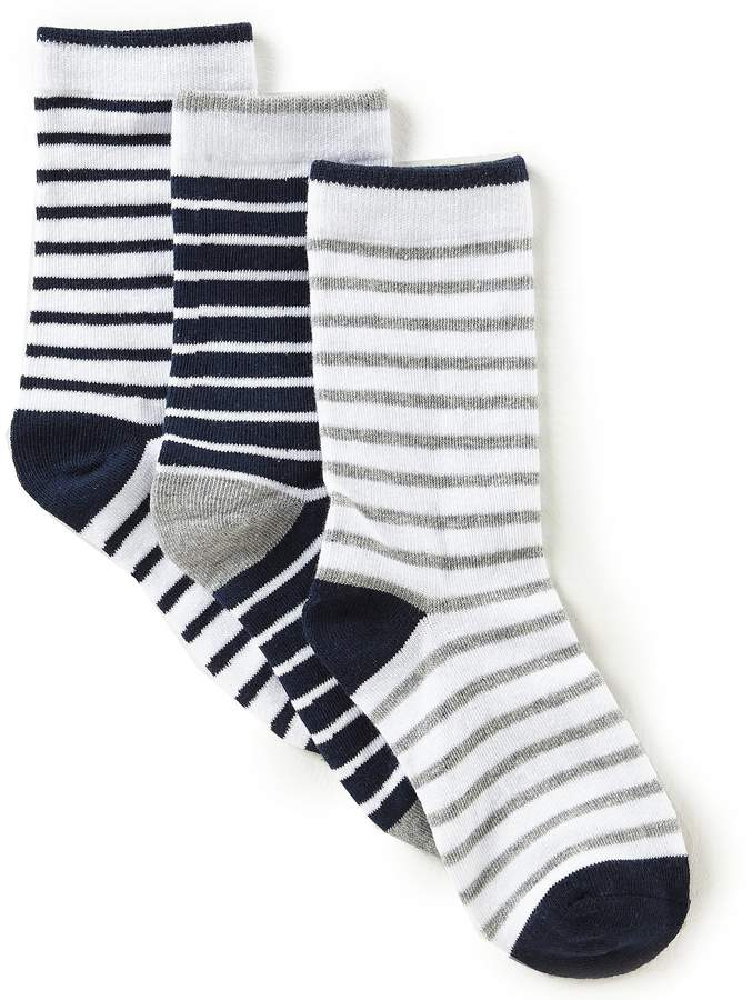 3-Pack Stripe Crew Socks