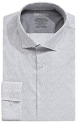 Calvin Klein Extra Slim-Fit Stretch Graphic Dress Shirt