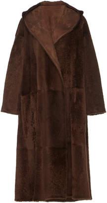 Agnona Reversible Hooded Shearling Coat