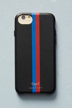 Clare Vivier x Casetify Striped Leather iPhone Case
