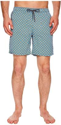 Mr.Swim Mr. Swim Geometric Printed Dale Swim Trunks Men's Swimwear