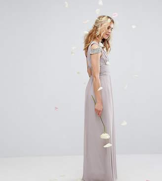TFNC WEDDING Maxi Dress with Embellished Cold Shoulder