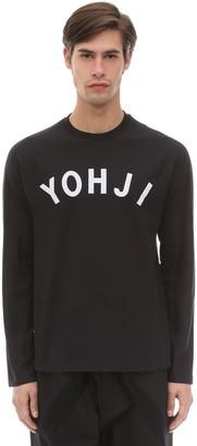Y-3 Y 3 Yohji Letters L/s Cotton Jersey T-shirt