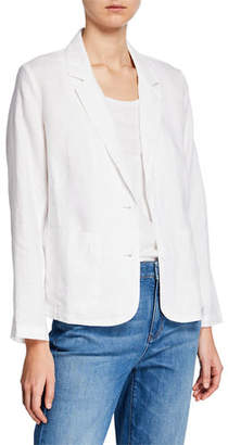 Eileen Fisher Plus Size Shaped Organic Linen Blazer
