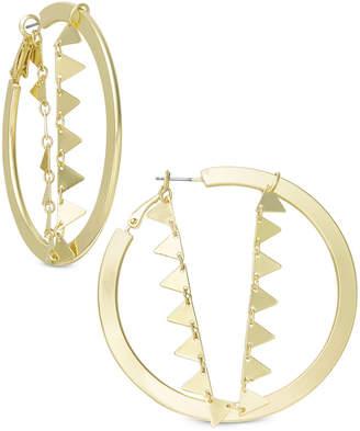 INC International Concepts I.n.c. Gold-Tone Triangle Chain Hoop Earrings, Created for Macy's