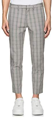 Off-White MEN'S CHECKED COTTON-BLEND SKINNY TROUSERS