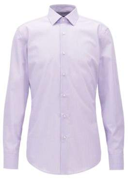 BOSS Hugo Egyptian Cotton Dress Shirt, Slim Fit Jenno 17.5 Light Purple