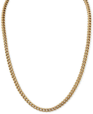 "Esquire Men Jewelry 22"" Fox Chain Necklace in Gold-Tone Ion-Plated Stainless Steel"