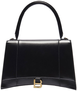 Balenciaga Medium Hourglass Top Handle Bag in Black | FWRD