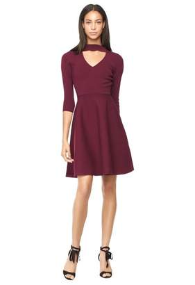 Milly Cut Out Collar Flare Dress
