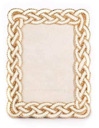 "Jay Strongwater Quinn Braided Picture Frame, 3.5"" x 5"""