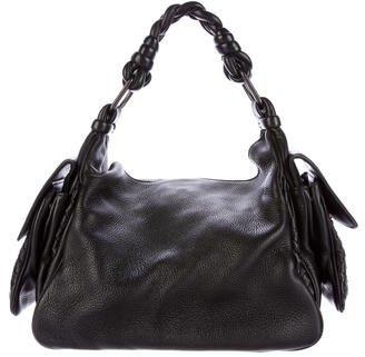 Bottega VenetaBottega Veneta Intrecciato-Trim Leather Hobo