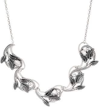 Or Paz Sterling Silver Gemstone Leaf Link Necklace