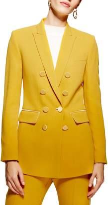 Topshop Satin Trim Tuxedo Jacket
