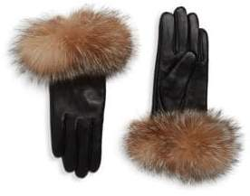 Surell Chic Dyed Fox Fur Leather Gloves