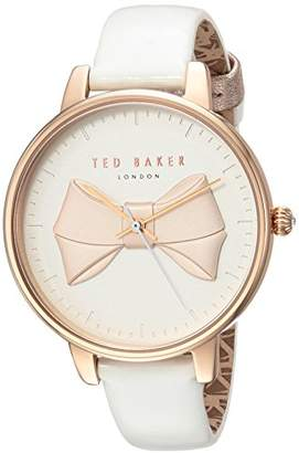 Ted Baker Women's 'Brook' Quartz Stainless Steel and Leather Casual Watch