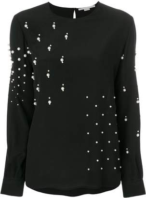 Stella McCartney pearl embellished blouse
