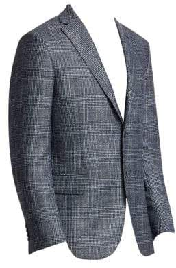 Saks Fifth Avenue COLLECTION Dream Tweed Glen Plaid Sportscoat