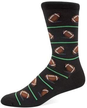 Hot Sox Football Knit Socks