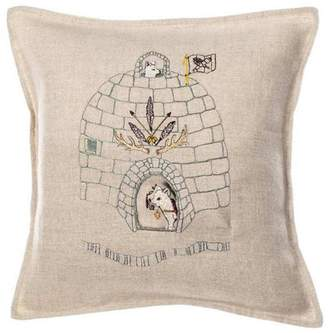 Coral & Tusk Pocket Pillow Arctic-Fox-Igloo