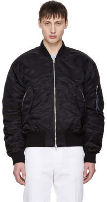 Acne Studios Black Makio Bomber Jacket