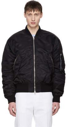 Acne Studios Black Makio Bomber Jacket