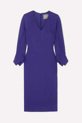 Lela Rose Wool-blend Dress - Dark purple