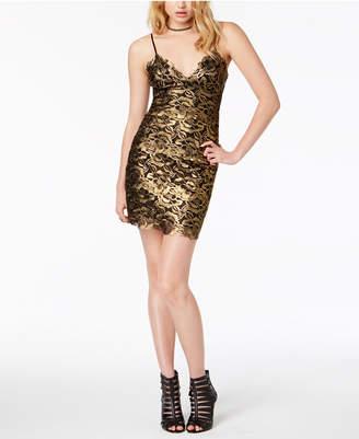 GUESS Metallic Slip Dress