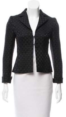 Akris Wool & Silk-Blend Quilted Blazer