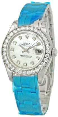 """Rolex Diamond """" Masterpiece"""" 18K White Gold Watch"""