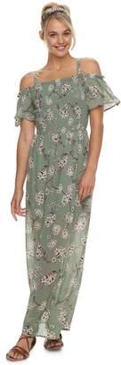 As U Wish Juniors' Off-The-Shoulder Maxi Dress