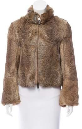 Burberry Long Sleeve Fur Jacket