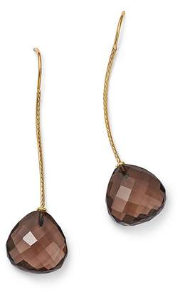 Bloomingdale's Smoky Quartz Wire Drop Earrings in 14K Yellow Gold - 100% Exclusive