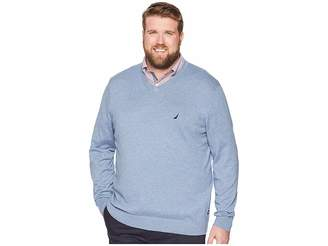 Nautica Big Tall Jersey V-Neck Sweater