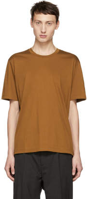 Jil Sander Brown Mercerized Cotton T-Shirt