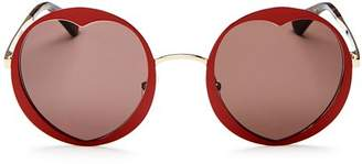 Kate Spade Women's Rosaria Round Heart Sunglasses, 53mm