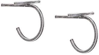 By Boe mini cross hoop earrings